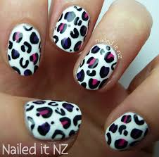 nailed it nz nail art for short nails 8 white leopard print