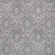 Upholstery Fabric Southwestern Pattern Ash Gray Southwest Medallion Print Linen Upholstery Fabric