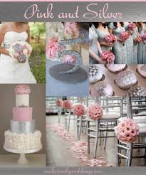 and silver wedding pink and silver wedding theme wedding