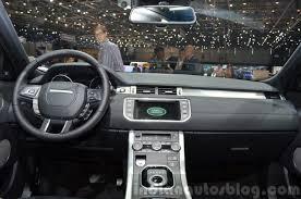 Evoque Interior Photos 2015 Land Rover Evoque Interior Dashboard At The 2015 Geneva Motor
