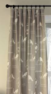 Custom Design Draperies Hand Crafted Custom Designer Draperies Duralee Birdcage On Smoke