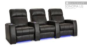 home theater leather chairs seatcraft sonoma leather gel theater seats youtube