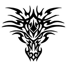 dragon head clipart black white clipartxtras