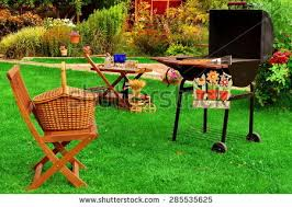 Backyard Barbeque Summer Weekend Family Bbq Party Picnic Stock Photo 432187051