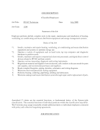 Resume Requirements Hvac Resume Objective Duct Installer Hvac Resume Objective Sle