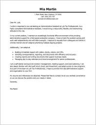 free sample resume cover letter administrative assistant cover
