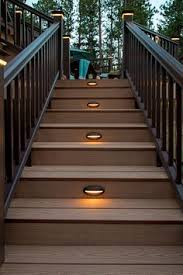 Stair Lights Outdoor Lights In Deck Steps This For Deck Project Outdoor Space