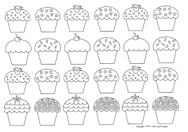 mosaique cupcakes enfantins cup cakes coloring pages for