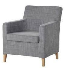 karlstad chair cover ikea karlstad armchair cover chair slipcover isunda gray grey ebay