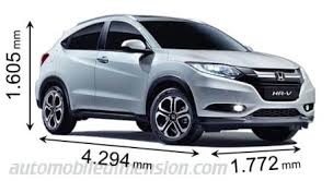 Honda Crv Interior Dimensions Dimensions Of Honda Cars Showing Length Width And Height