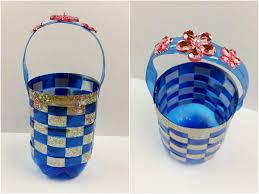 riciclare bicchieri di plastica tutorial cestino con una bottiglia di plastica riciclo diy
