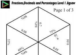78 best fractions decimals percentages images on pinterest math