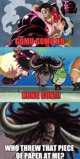 One Piece Meme - one piece gear 4th luffy v s kaido meme by lilyandjasper on deviantart