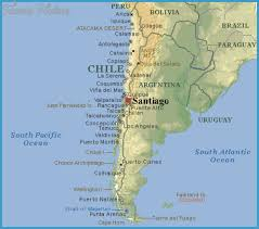 chile physical map chile map travelsfinders