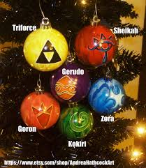 legend of inspired ocarina of time ornaments abstract