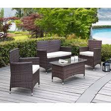 Coronado Patio Furniture by Dhi Coronado 4 Piece Seating Group With Cushions Walmart Com