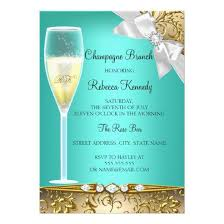 chagne brunch invitations teal gold white chagne brunch invite invitations 4 u