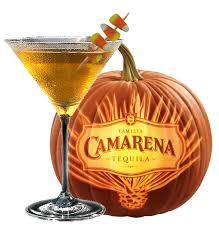 camarena candy corn cordial halloween cocktail recipe with familia