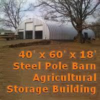 Steel Pole Barn X 60 U0027 X 18 U0027 Steel Storage Metal Arch Pole Barn Agricultural Building
