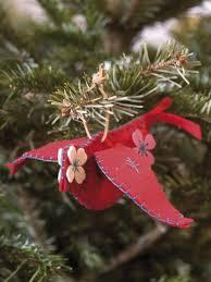 christmas season festive cardinal birds christmas ornaments