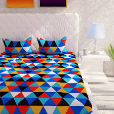 Double Cot Bed Sheets Online India Buy Story Home 120 Tc 100 Cotton Yellow 1 Double Bedsheet With 2