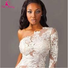 aliexpress com buy vestido de noiva dois em um one shoulder lace