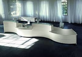 White Curved Reception Desk Large Reception Desks Large 2 Person Waved Reception Desk In White
