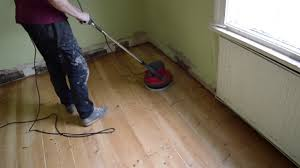 wood pine floor buffing sanding between coats of varnish how to