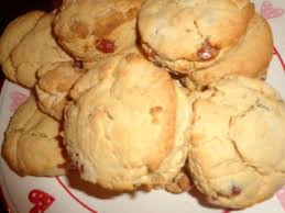 a paint palette biscuit and some cherry and almond scones