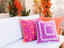 easy upcycled no sew outdoor pillow cover hgtv