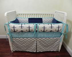 Nautical Baby Crib Bedding Sets Furniture Anchors Away Nautical Basics 2 Crib Bedding Set