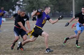 Flag Football Equipment The Bulls Defeat The Dark Knights In Intramural Flag Football