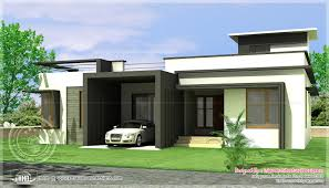 Single Story Flat Roof House Designs Classy Design 4 House Designs One Floor Homes Home Square Meter
