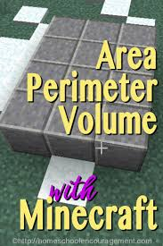 teaching area perimeter and volume with minecraft