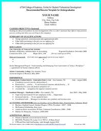 college student resume career objective college students resume