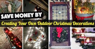 cheap outdoor decorations save money by creating your own outdoor christmas decorations
