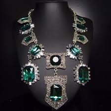 green emerald necklace images 2015 new fashion winter chunky luxury green emerald necklace for jpg