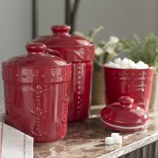 3 kitchen canister set lark manor genesee 3 kitchen canister set reviews wayfair