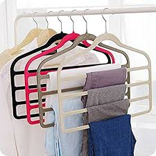 amazon com magic multi layer pants drying flocking hanger