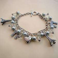 handmade charm bracelet images Vintage style paris inspired silver charm bracelet pirate jpg