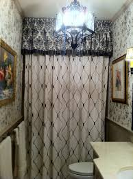Bathroom Window Curtains by Shower Curtains With Valance Avanti Shower Curtain With Beaded