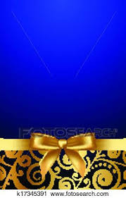 blue and gold ribbon clipart of luxury frame with gold ribbon k17345391 search clip