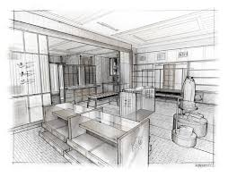 Interior Design Sketches by Housing And Interior Design In Perspective For Interior Designers
