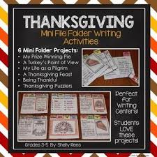 thanksgiving writing mini flip book writing projects