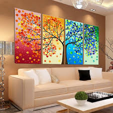 diy handmade colorful season tree counted cross stitch embroidery