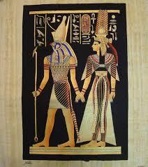 14 nefertari and god horus a papyrus painting jpg 1484 1663