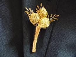 gold boutonniere modern gold wire bauble buttonhole boutonniere for groom best