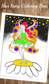 fairy coloring page trail of colors