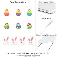Plastic Easter Egg Yard Decorations by Easter Bunny U0026 Egg Yard Decorations Outdoor Easter Lawn