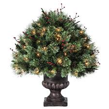 shop holiday living 2 ft pre lit single ball topiary artificial